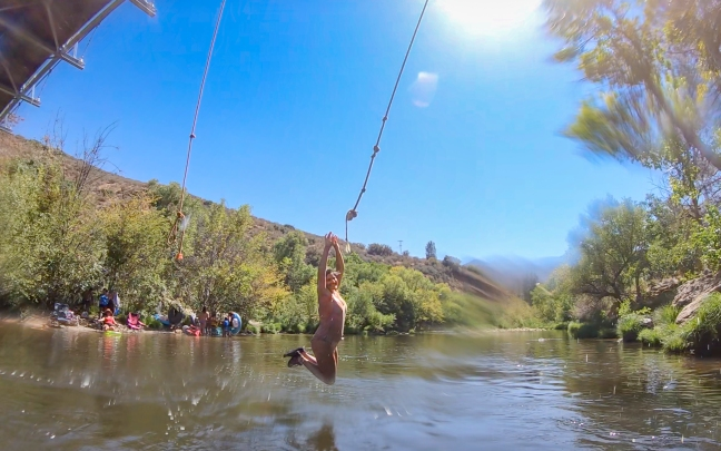 C on Kern Rope Swing